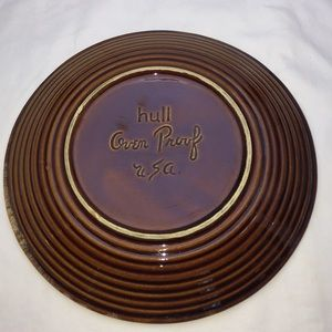 "Vintage Dining - Vintage Hull Brown Drip Glazed 10.5"" Dinner Plates"